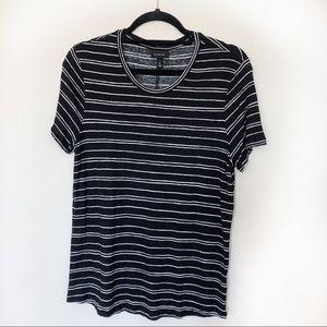 Who What Wear • Black & White Striped T-shirt